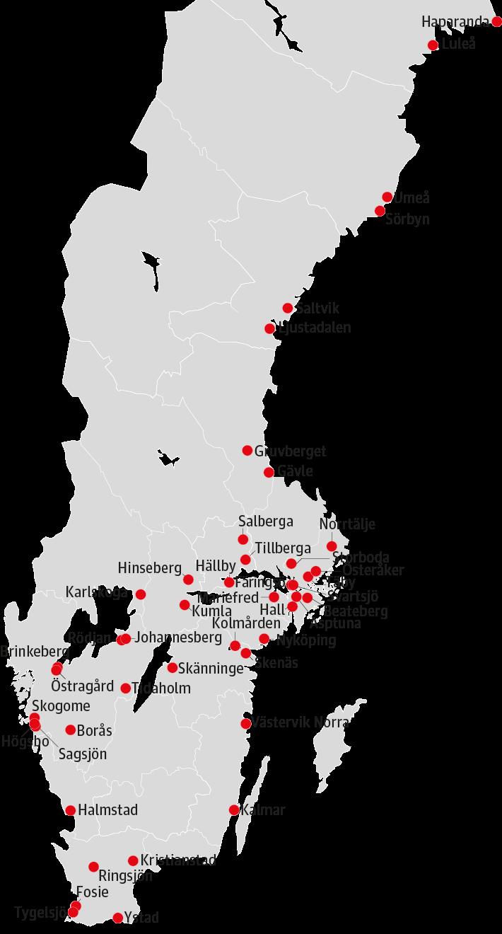 Här ligger Sveriges fängelser