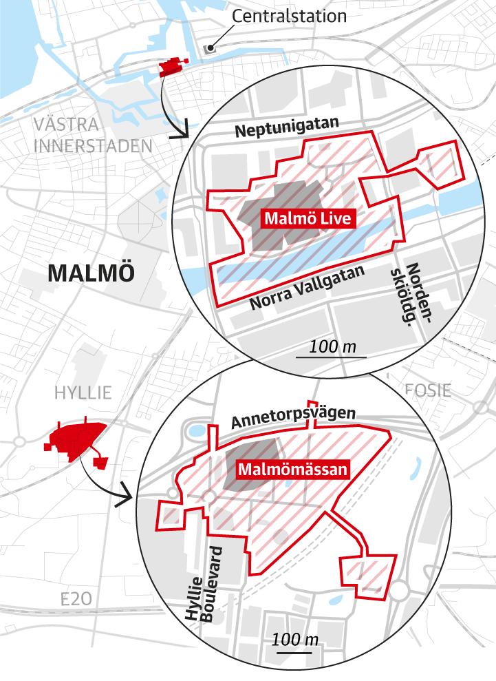 Avspärrningar under Malmöforum